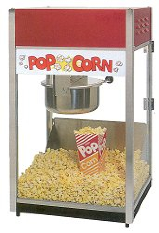 Popcorn Machine W/50 servings